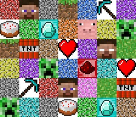 Minecraft Fabric Google Search Minecraft Quilting