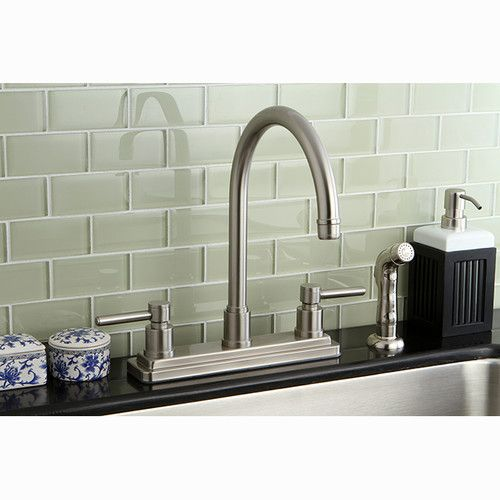 Found it at Wayfair - Concord Double Handle Centerset Kitchen Faucet with Side Spray