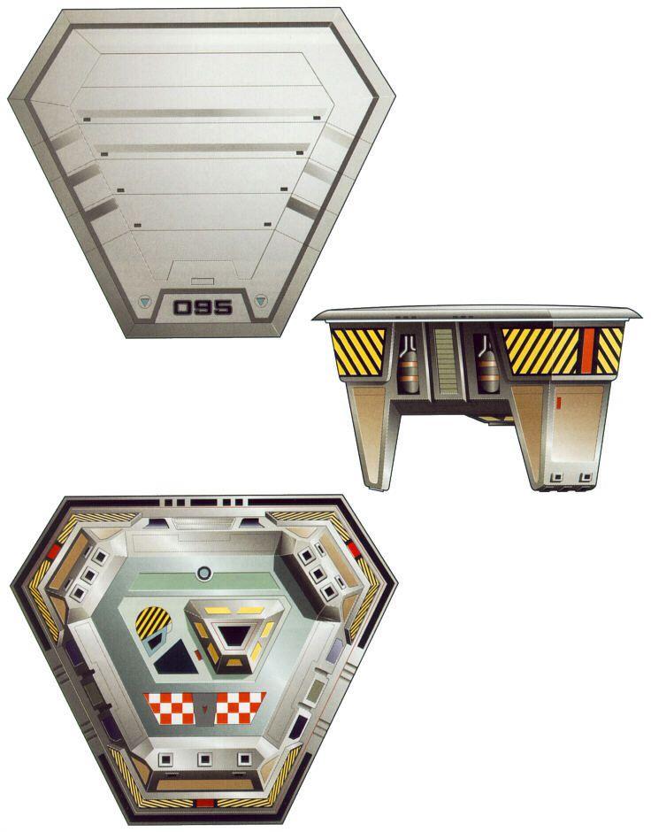 Sovereign-class starship escape pods