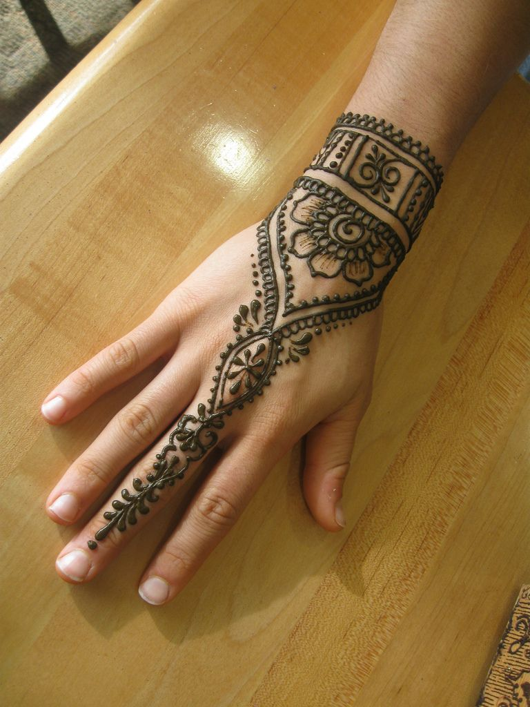 Back Of Hand #Henna By Henna Elements.
