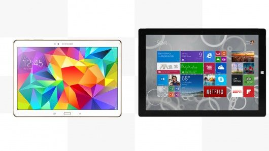 Gizmag compares the features and specs of the Samsung Galaxy Tab S 10.5 and the Microsoft Surface Pro 3