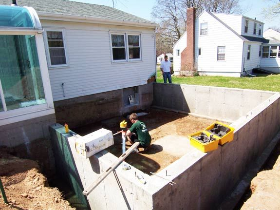 Crawl E Foundation Poured For Bedroom Addition