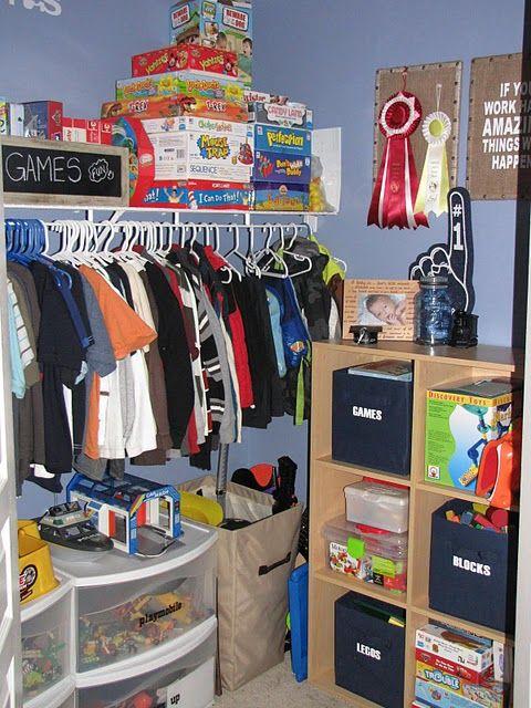 Kids Closet Organizing Ideas Part - 49: Kids Closet/toy Organization Ideas