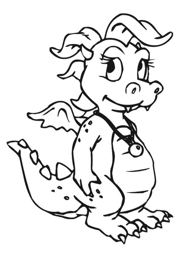 Print Coloring Image Momjunction Dragon Coloring Page Baby Dragons Drawing Animal Coloring Pages