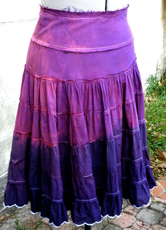 Skirt  Vintage Upcycled Cotton Ruffled Raw by bansheehouseofmake, $35.00