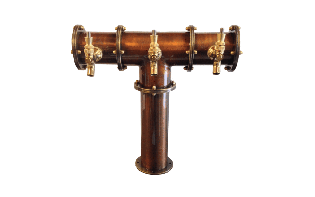T Tower Copper Colonne A Biere Beer Tower 4 Beer Tower Tower Draft Beer Tower