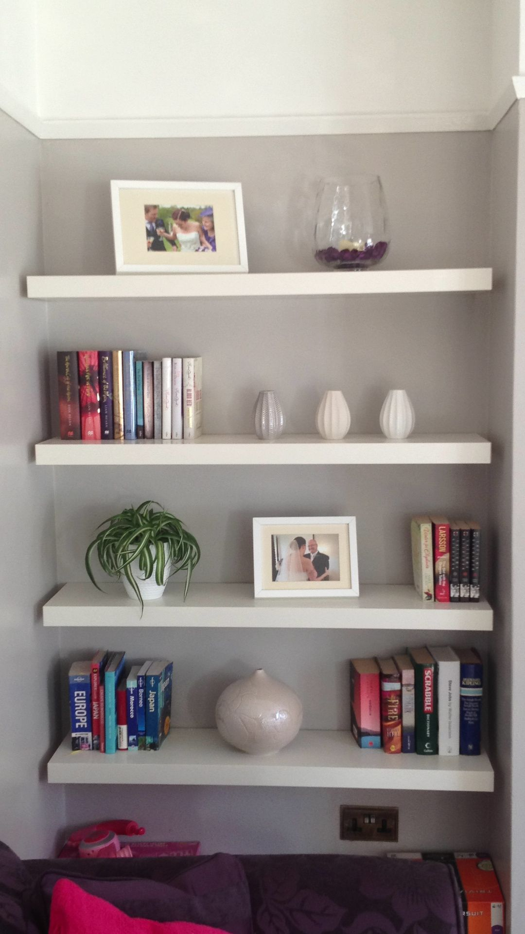 Alcove Floating Shelving In The Lounge Alcove Shelving