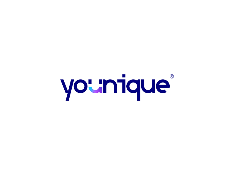 Logo Proposal For Younique Logos Graphic Poster Minimal Logo