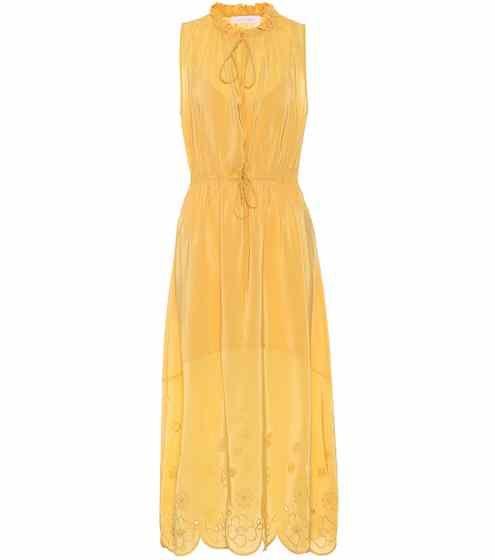 Sleeveless silk-blend dress See By Chlo P9qSexqb8R