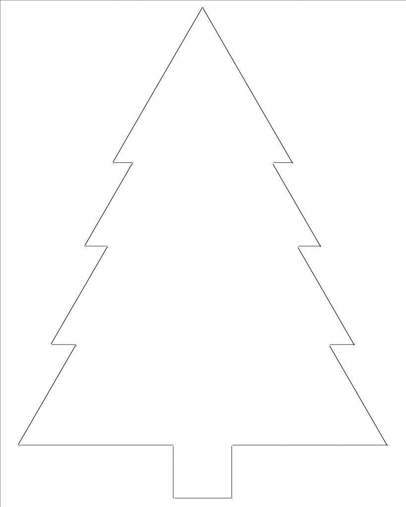 Free Printable Christmas Tree Templates | Christmas tree ...