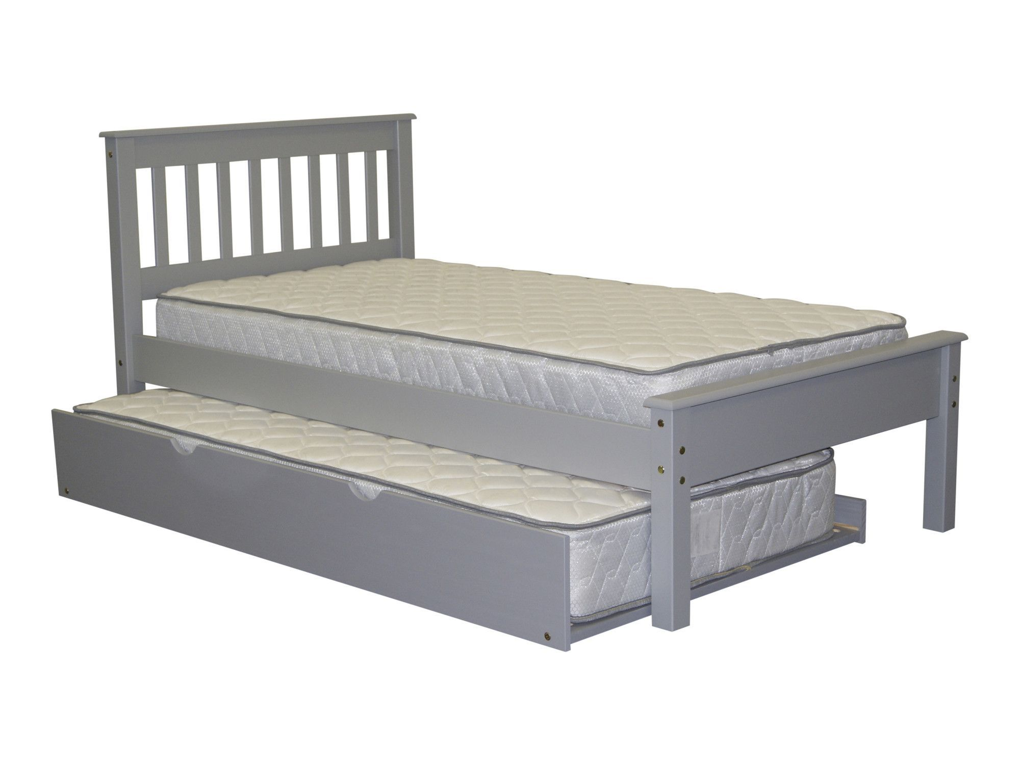 Mission Twin Slat Bed with Trundle
