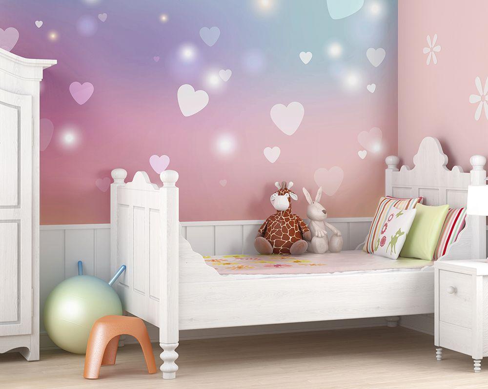 Sweet Hearts Wallpaper Mural   ohpopsi   Girls bedroom ...