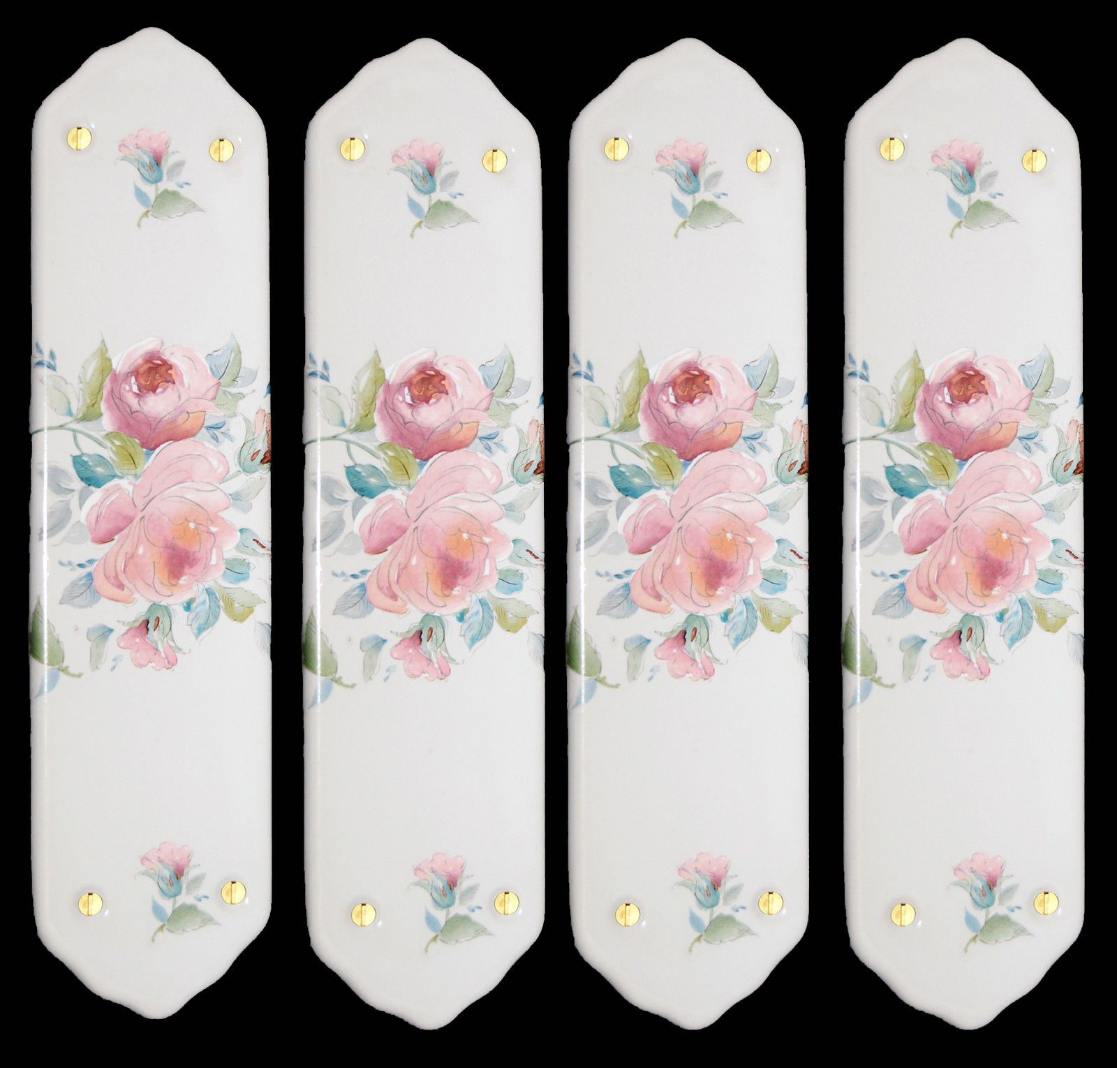 4 x White Porcelain Ceramic Door Finger Push Plates Eleanor Design in Homeu2026  sc 1 st  Pinterest & 4 x White Porcelain Ceramic Door Finger Push Plates Eleanor Design ...