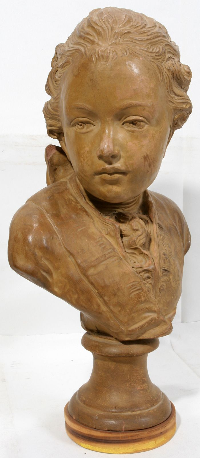 Lovely 19th Century French Terra Cotta Bust In The 18th