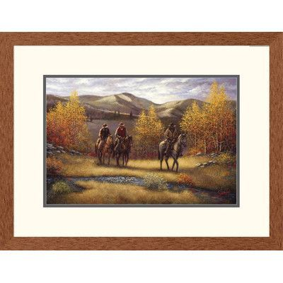 Global Gallery 'Western Fall Riders' by Sambataro Framed Graphic Art Size: 2