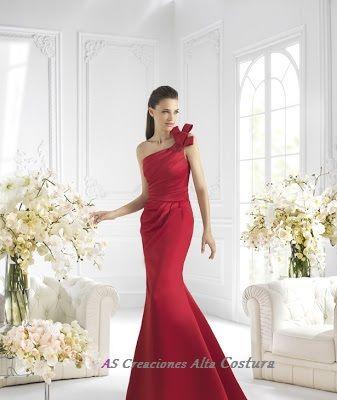 Vestido de largo rojo, para una excelente ocasion