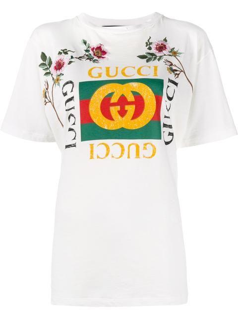 eb7df25fec5 GUCCI  Fake Gucci  embroidered t-shirt.  gucci  cloth  티셔츠 ...