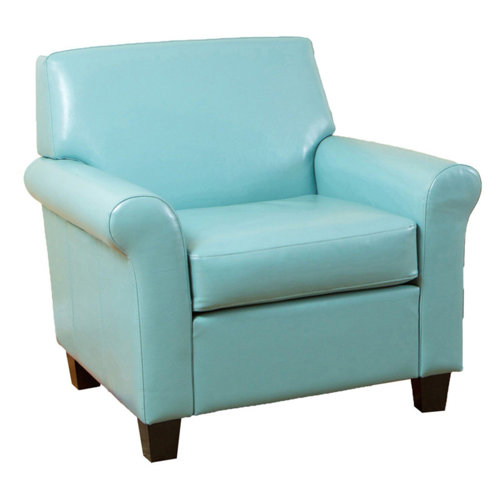 Teal Blue Modern Club Chair In 2020 Leather Club Chairs Club