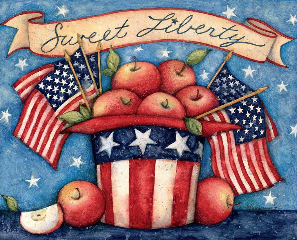 Certified international parisian fruit canister by susan winget set - Susan Winget Old Glory September 2015