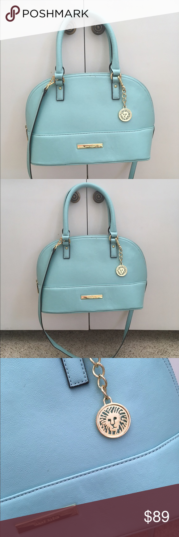 NWOT Anne Klein alma dome bag satchel crossbody New without tags Anne Klein alma style dome handbag with cross body option in excellent condition only blemish is a smudge on the fabric of the zipper near the handle. KV0020 Anne Klein Bags Satchels