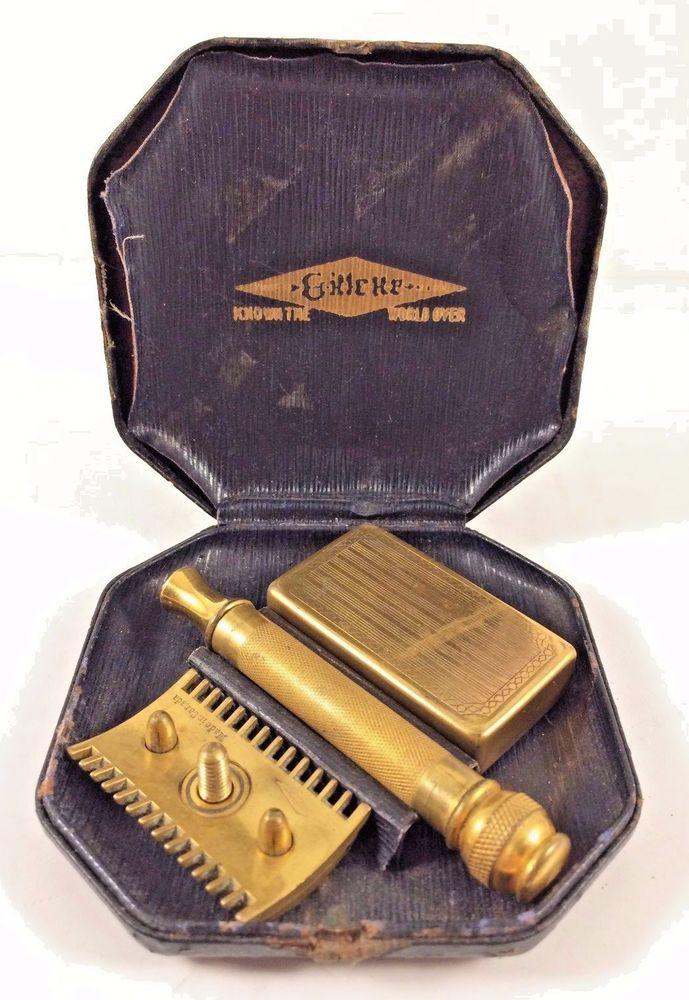 Gillette Canada Vintage GoldTone Double Edge Safety Razor