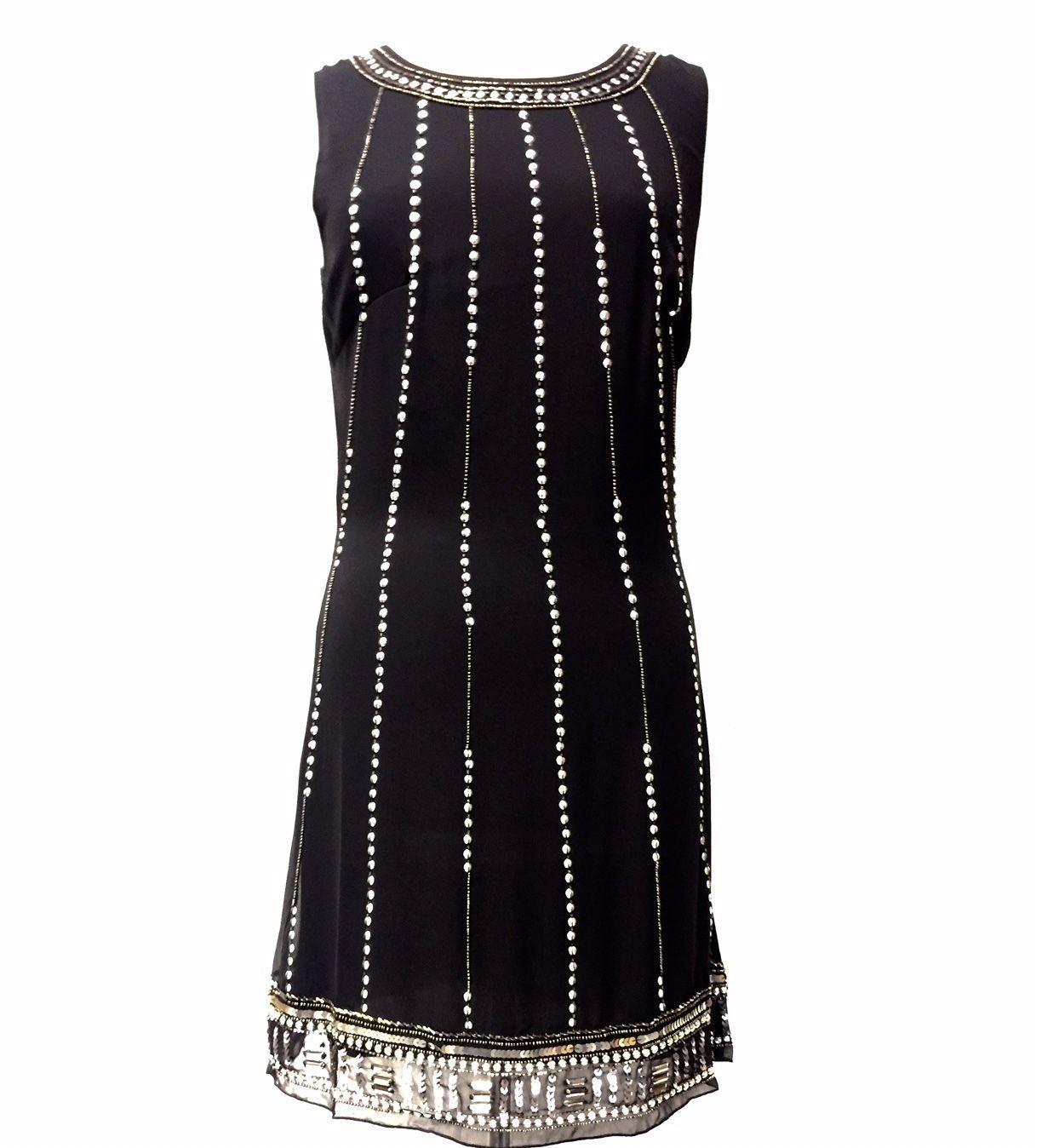 Bnwt ladies black dress tunic top evening us shift dress size