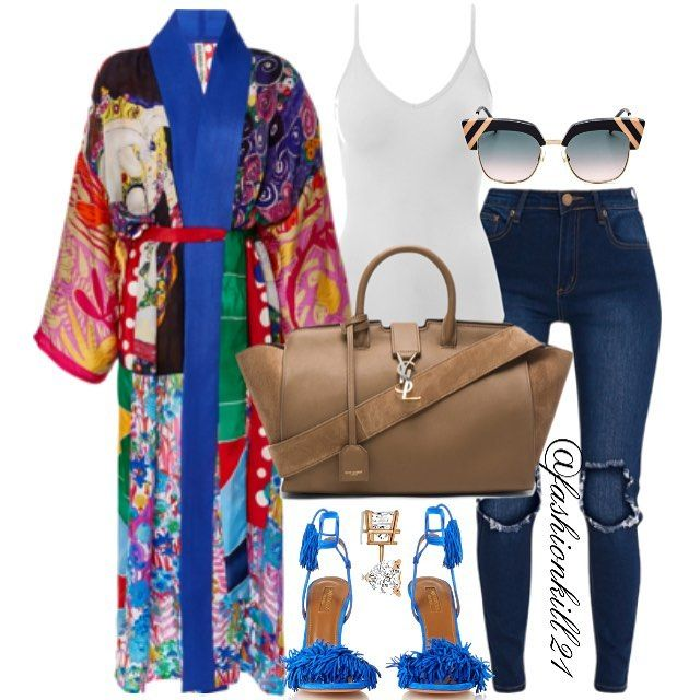 "2,251 Likes, 31 Comments - FK21 (@fashionkill21) on Instagram: ""C O L O U R DETAILS :  Kimono #Modaoperandi Tank Top #Americaneagle Frames #Fendi Jeans…"""