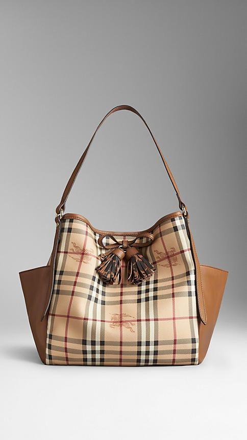 1234c6f31ef9 Small Haymarket Check Tassel Detail Tote Bag