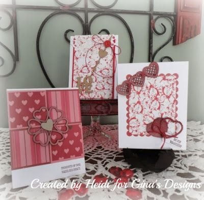 Gina's Designs: Valentine Cards by Heidi