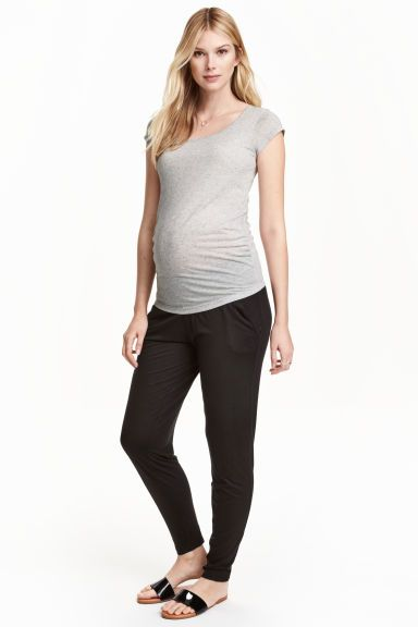 0fffd139065 MAMA Jersey trousers  Trousers in soft viscose jersey with wide smocking at  the waist