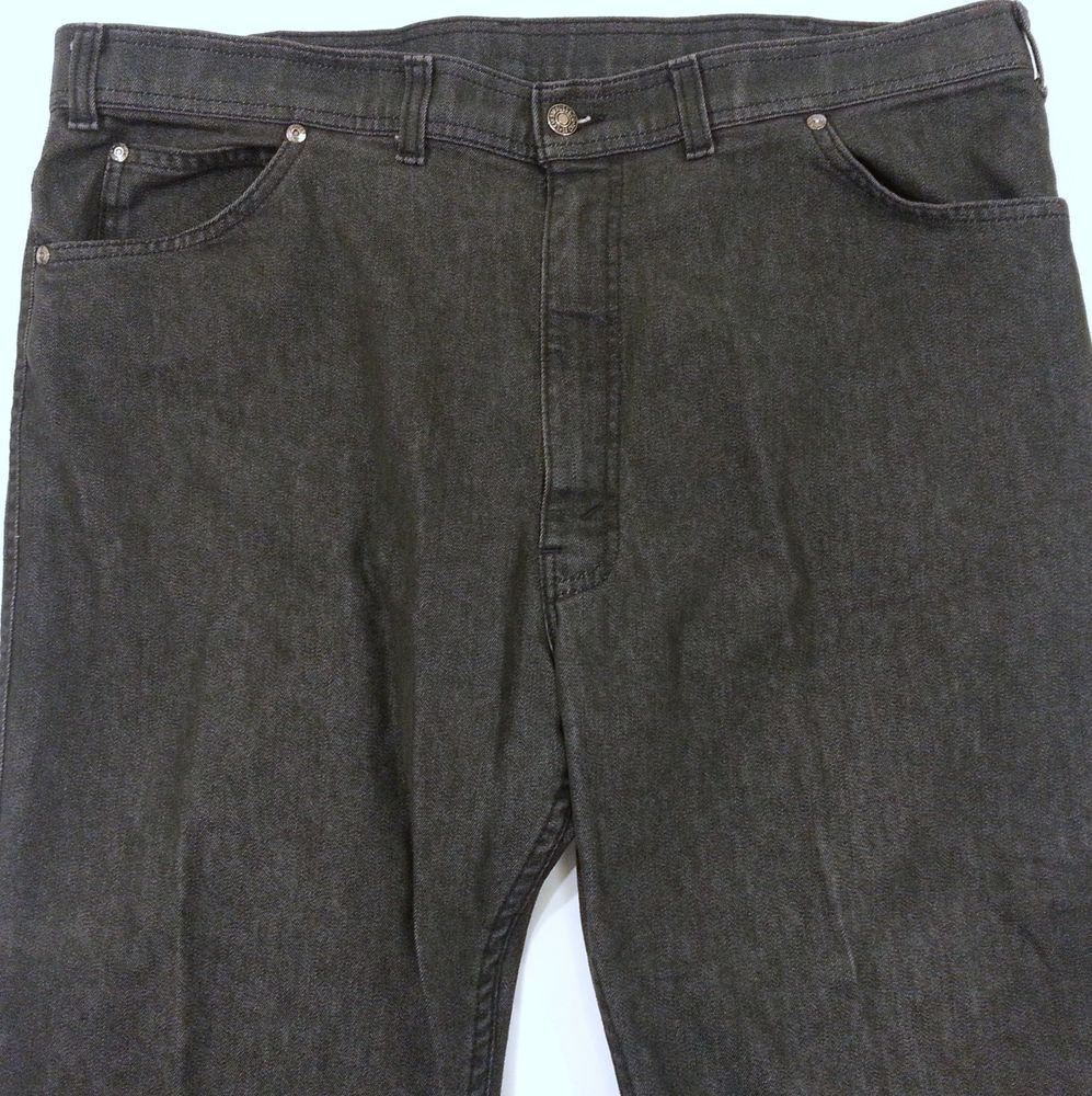 Levis for Men Black Jeans Mens Size 41x29 Skosh More Comfort Vintage Made in USA #Levis #Relaxed