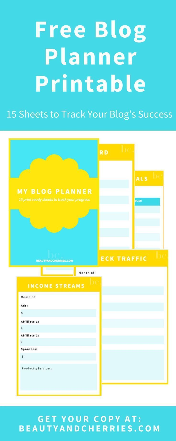 Already have a blog but still feel confused? Click through to get this blog planner printable for free which will help you track your progress as a blogger.