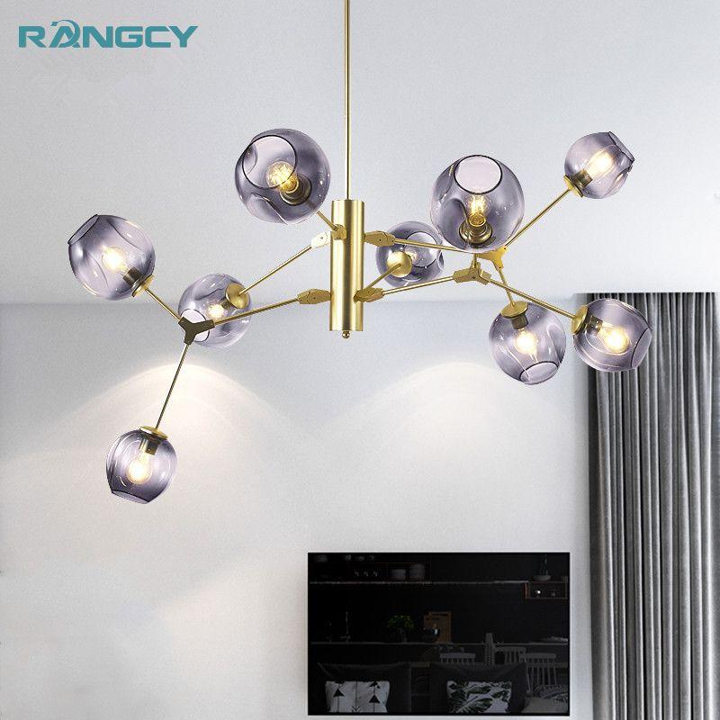 Modern Glass Pendant Light Nordic Dining Room Kitchen Designer Hanging Lamps Avize Lustre Lighting LED