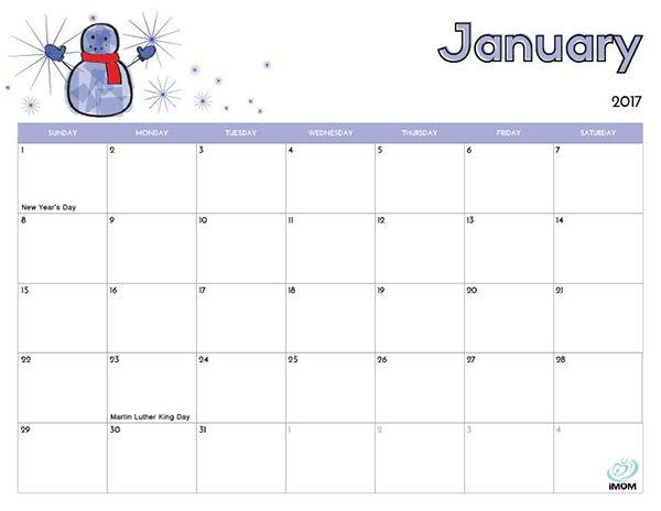 Calendar Kids : Printable calendar for kids free