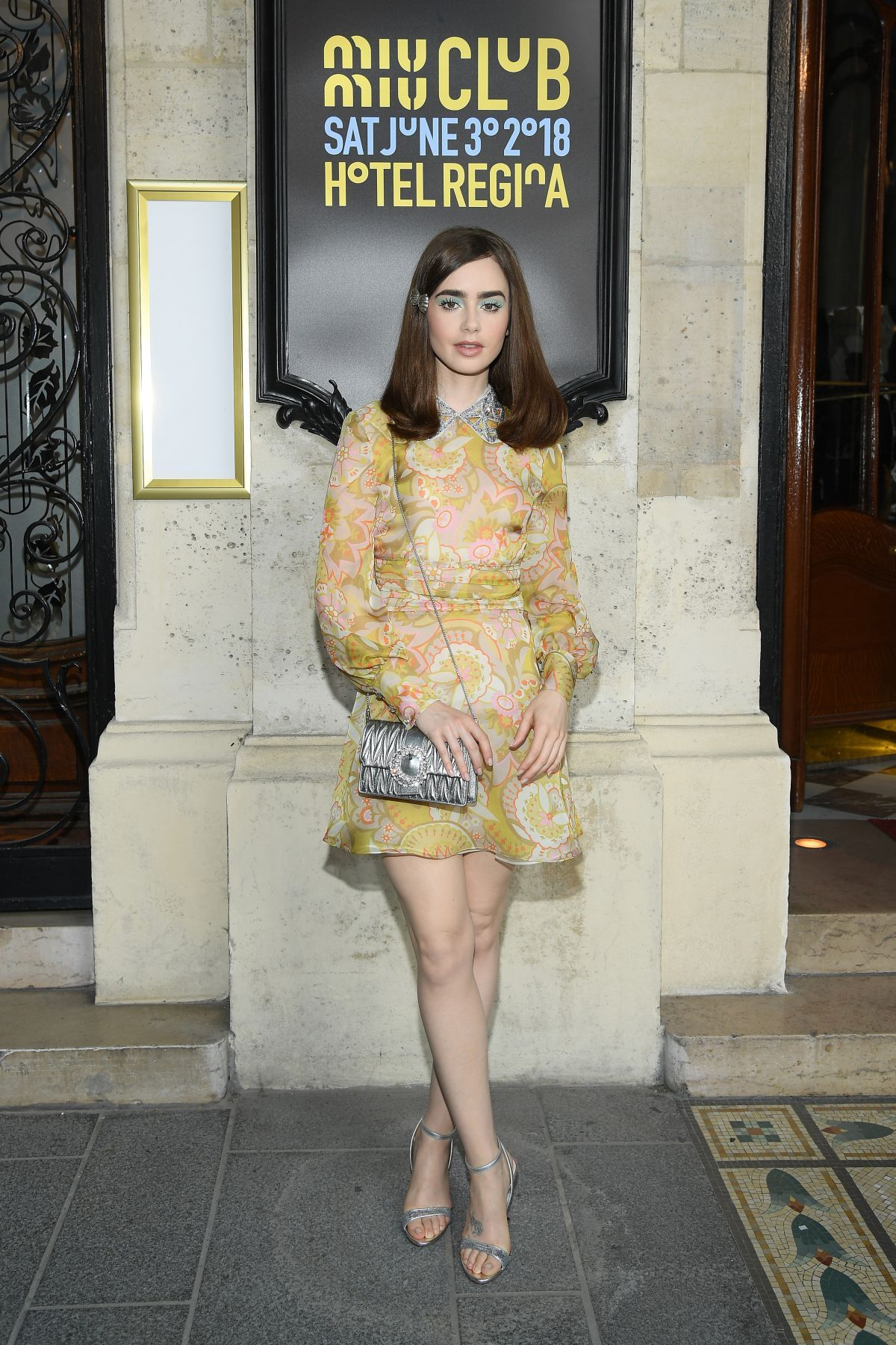 Lily Collins at 2019 Miu Miu Cruise Collection Show in Paris  d851ac858