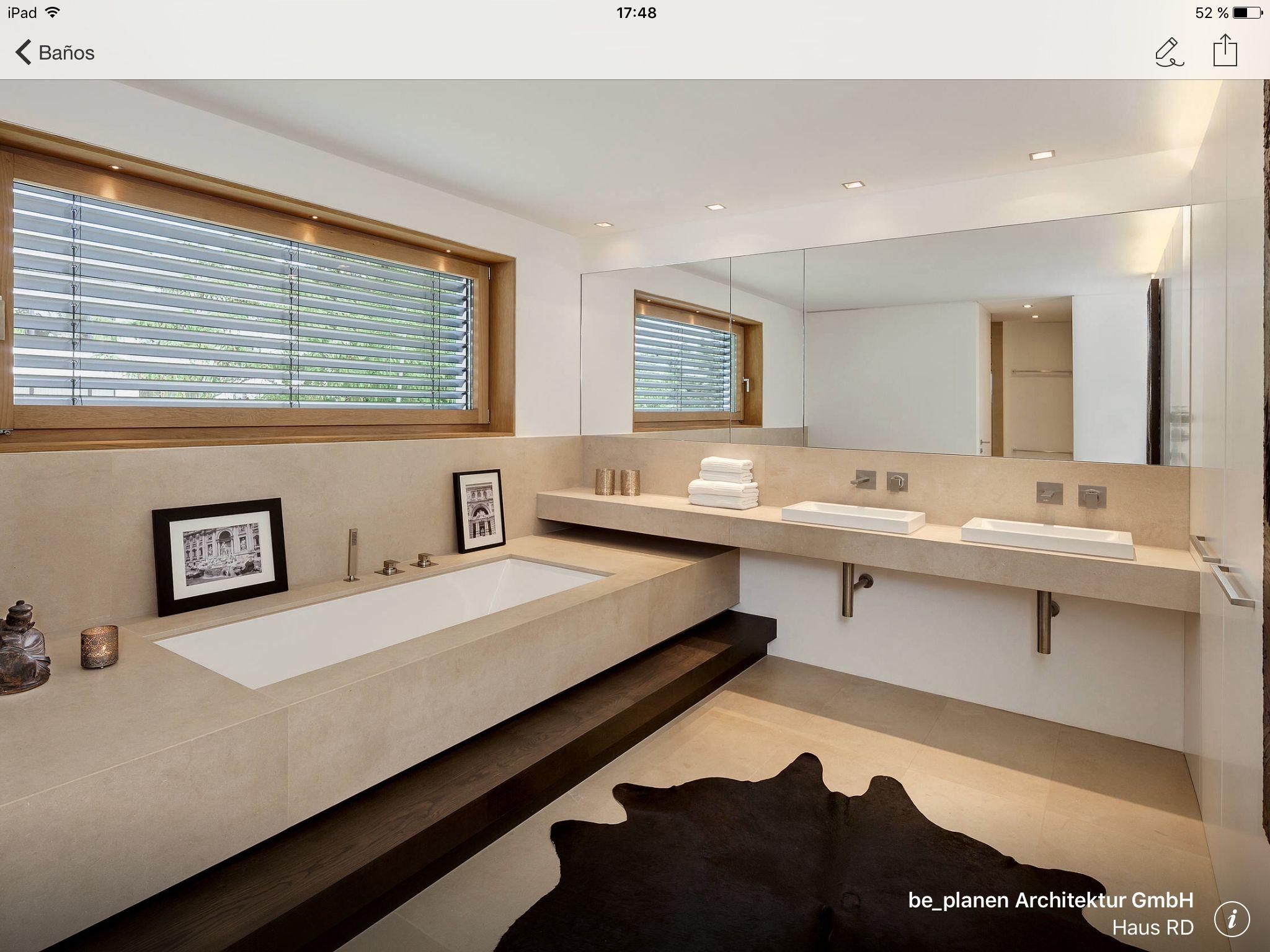 Bañera encastrada con una encimara muy grande   Baños ...