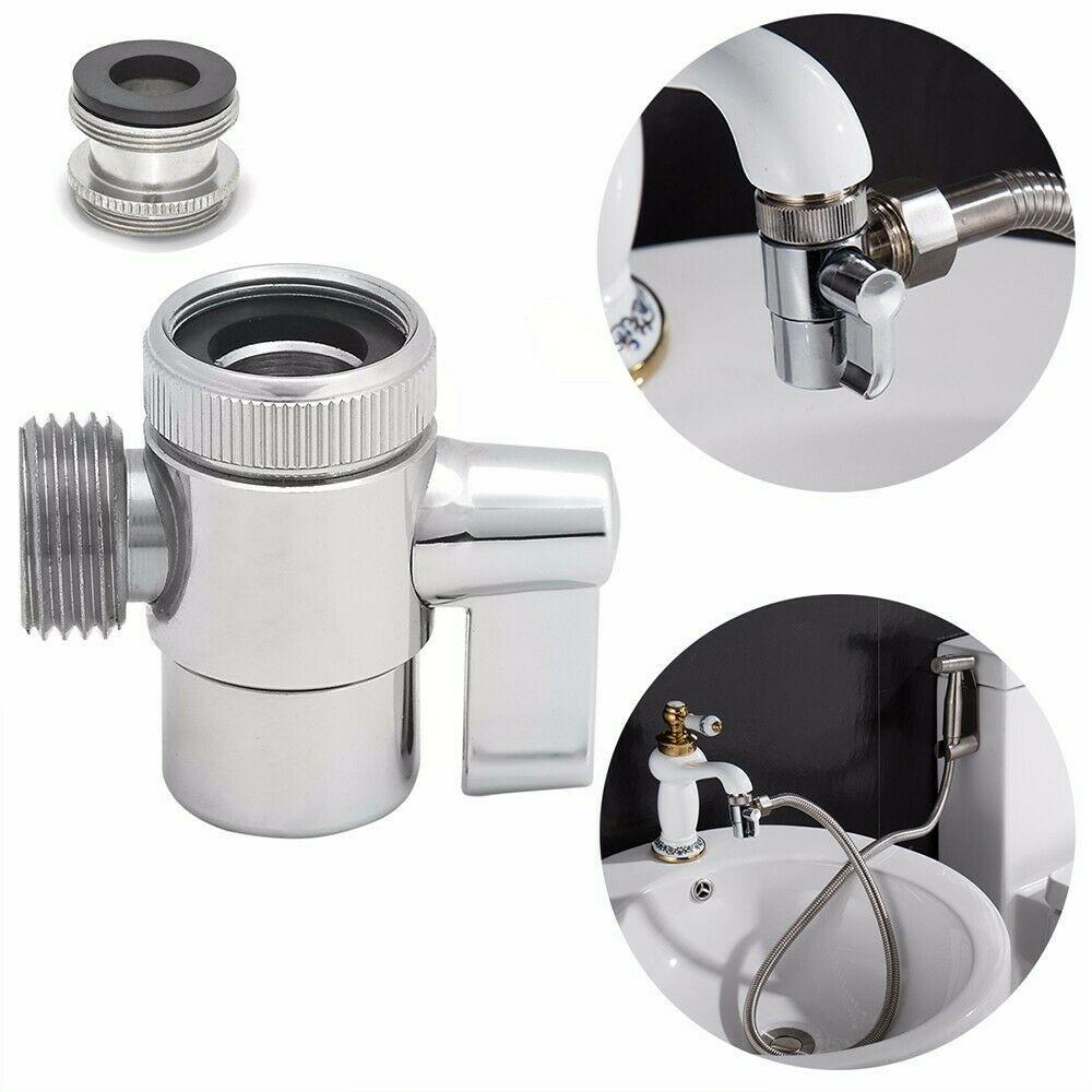Bathroom Brass Sink Valve Diverter Faucet Splitter To Hose Adapter