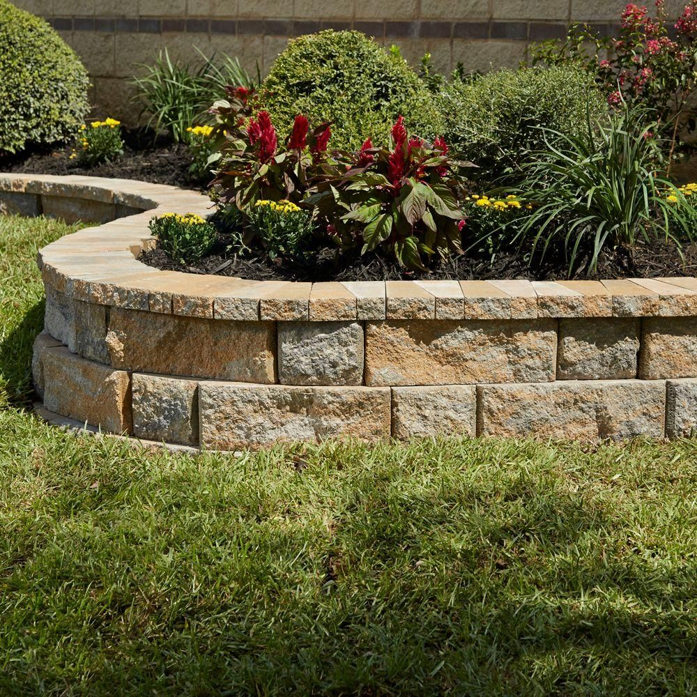 comely garden mulch home depot. Pavestone RockWall 2 in  x 4 25 9 Yukon Concrete Wall Cap 79950 The Home Depot 3 Garden Block
