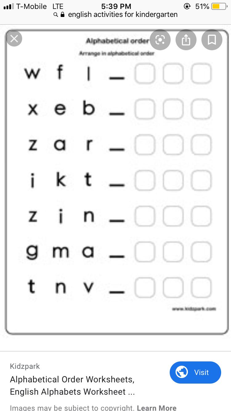 Alphabetical Order Alphabetical Order Worksheets Alphabetical Order Alphabet Worksheets [ 1334 x 750 Pixel ]