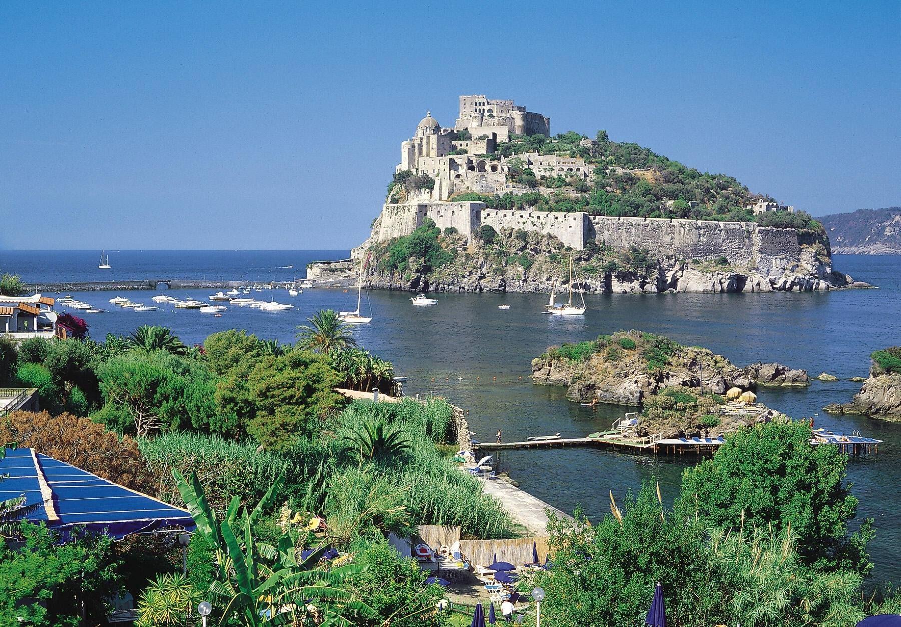 Capri Panorama Faraglioni Tyrrhenian Sea Bay Of Naples ... |Capri Italy Golf