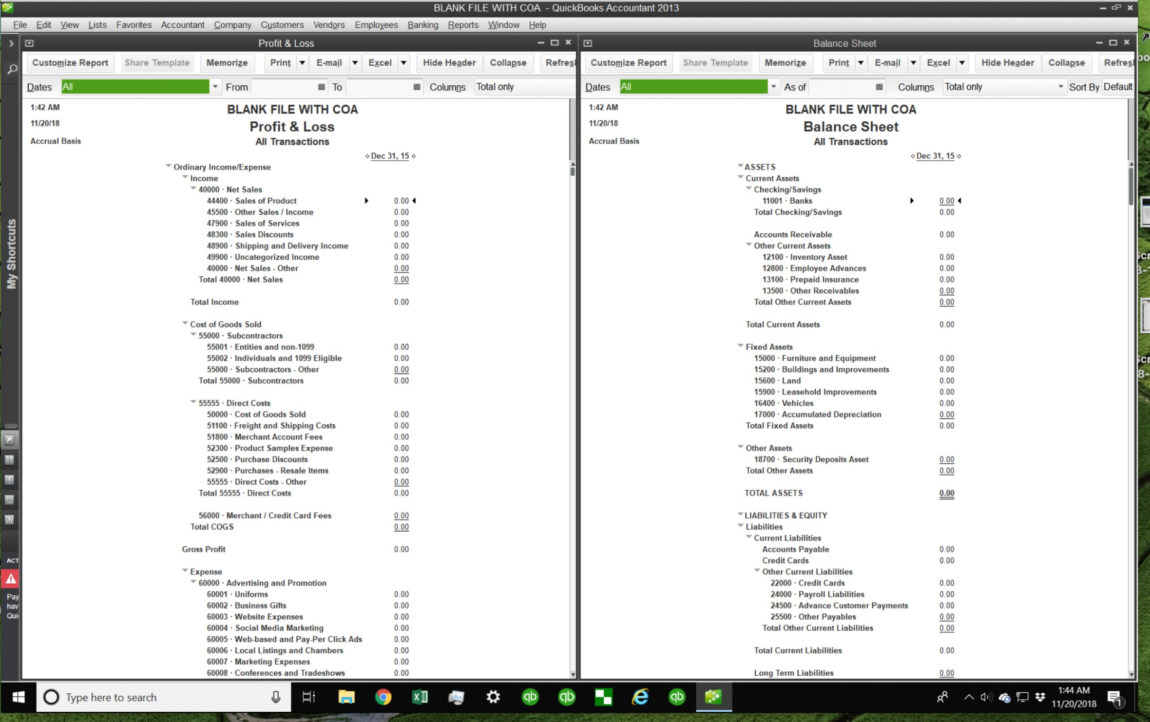Explore Our Sample Of Personal Chart Of Accounts Template Chart Of Accounts Quickbooks Online Quickbooks