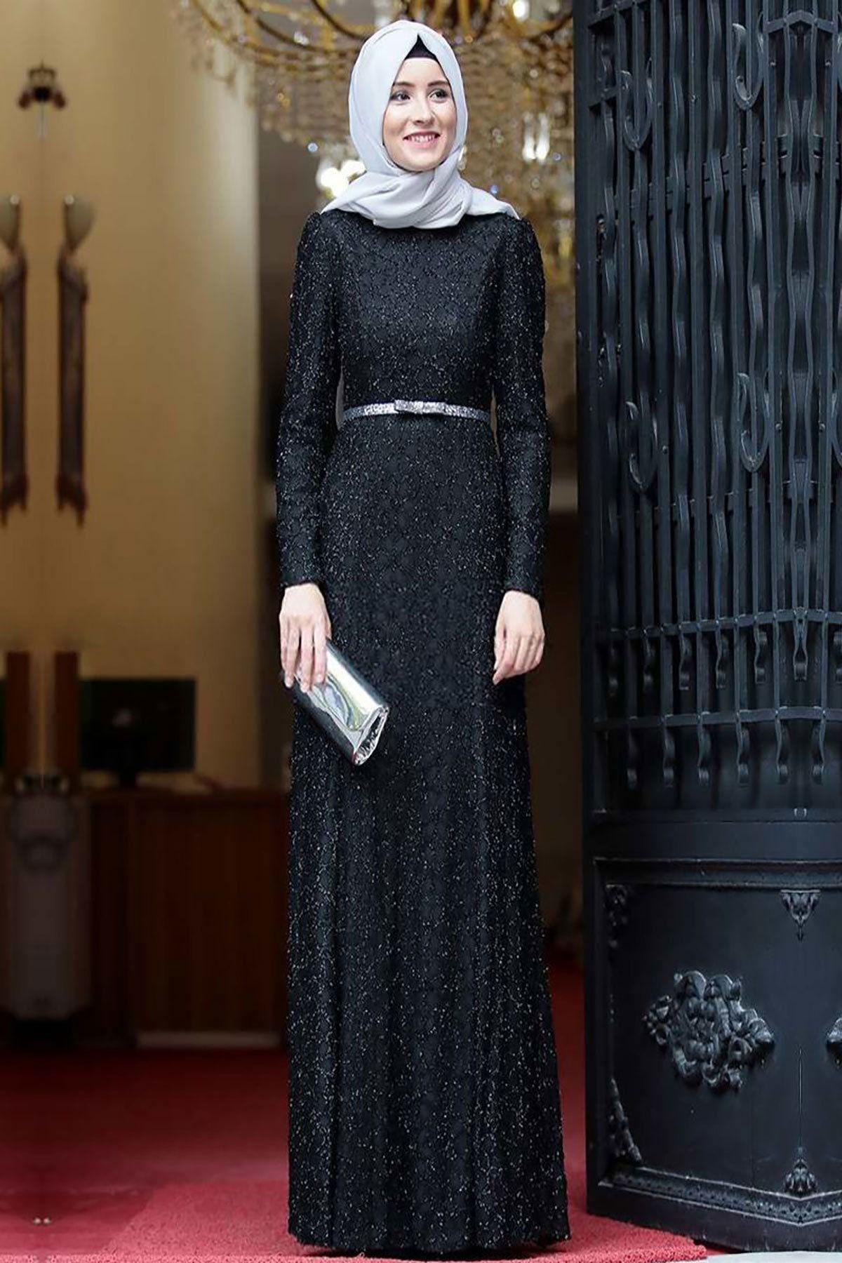 Kadin Tesettur Abiye Trendyol Da En Cok Satan Top 10 2020 Aksamustu Giysileri Siyah Abiye The Dress