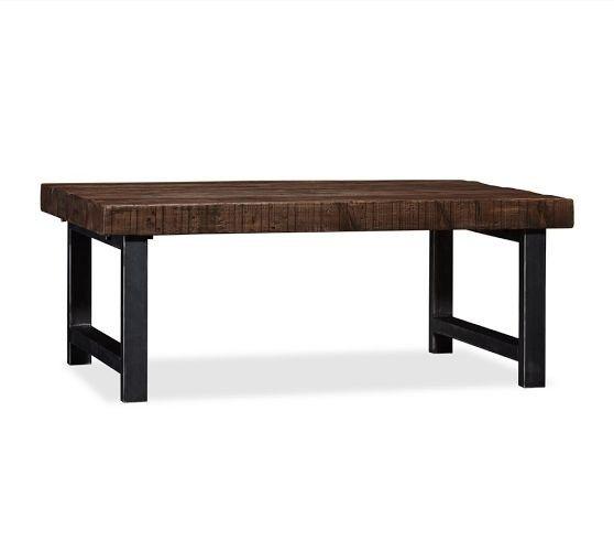 bois et fer forg table basse foter