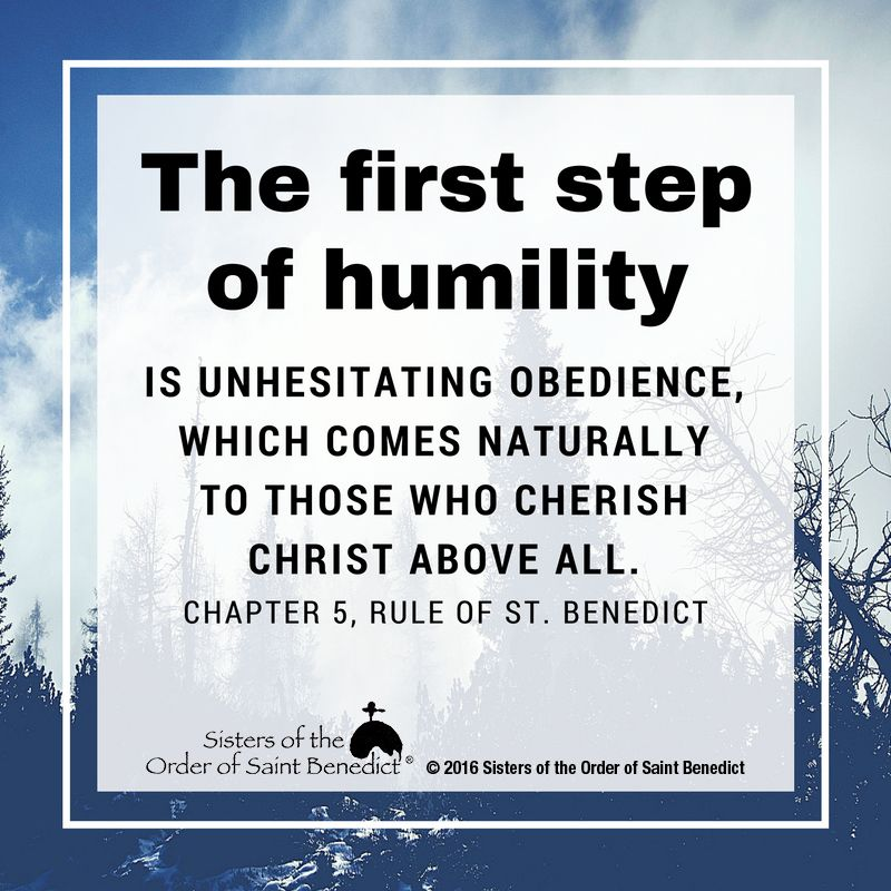 Humility According To The Rule Of St. Benedict