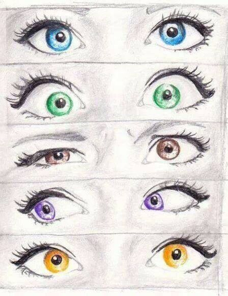 eye color drawing - Color Drawings