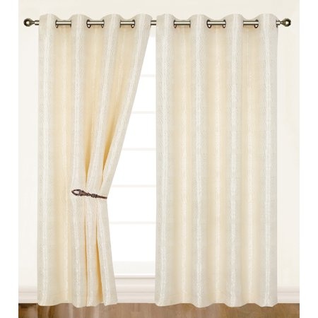 Dainty Home Helen Extra Wide Grommet Single Window Curtain Panel