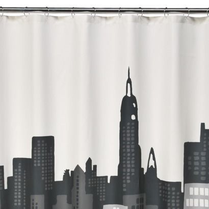 I Love New York Loft Bathroom Decor Black Curtains Cool Shower Curtains