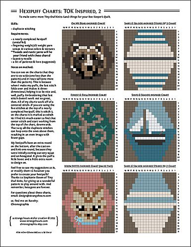 Ravelry: Hexipuff Charts: Tiny-Owl-Knits-Inspired, 2 pattern by ...