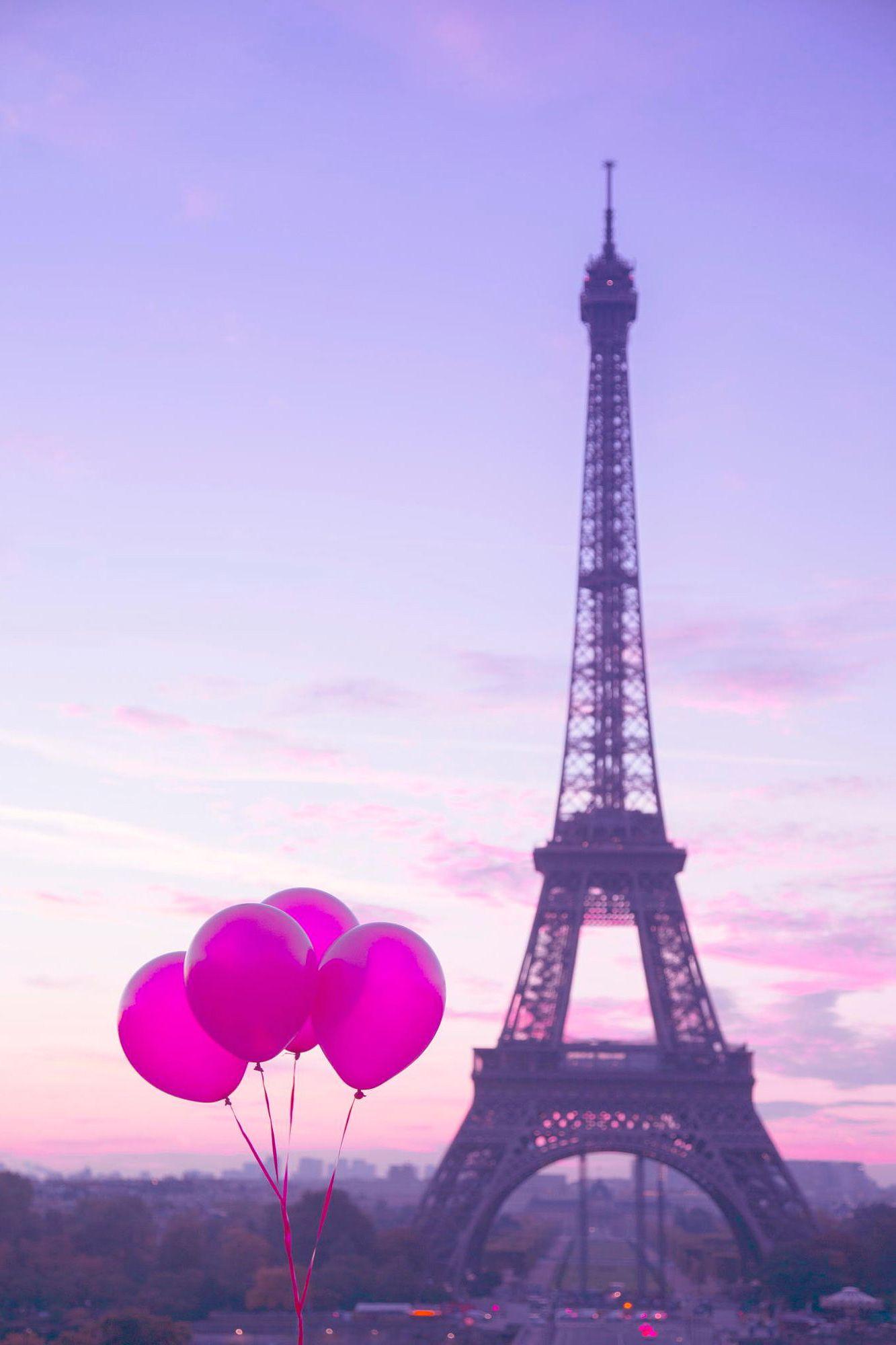 Pink Balloons In Paris
