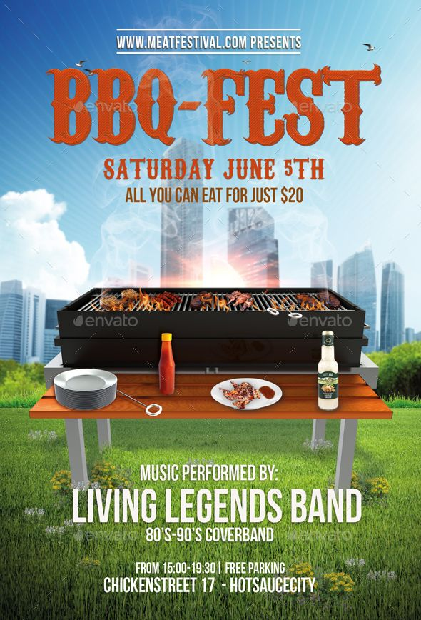 Bbq Fest Party Flyer  Fb Cover  Party Flyer Template And Flyer